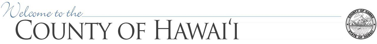 Hawaii county banner
